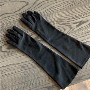 Vintage Hanson Black Dress Gloves size 7